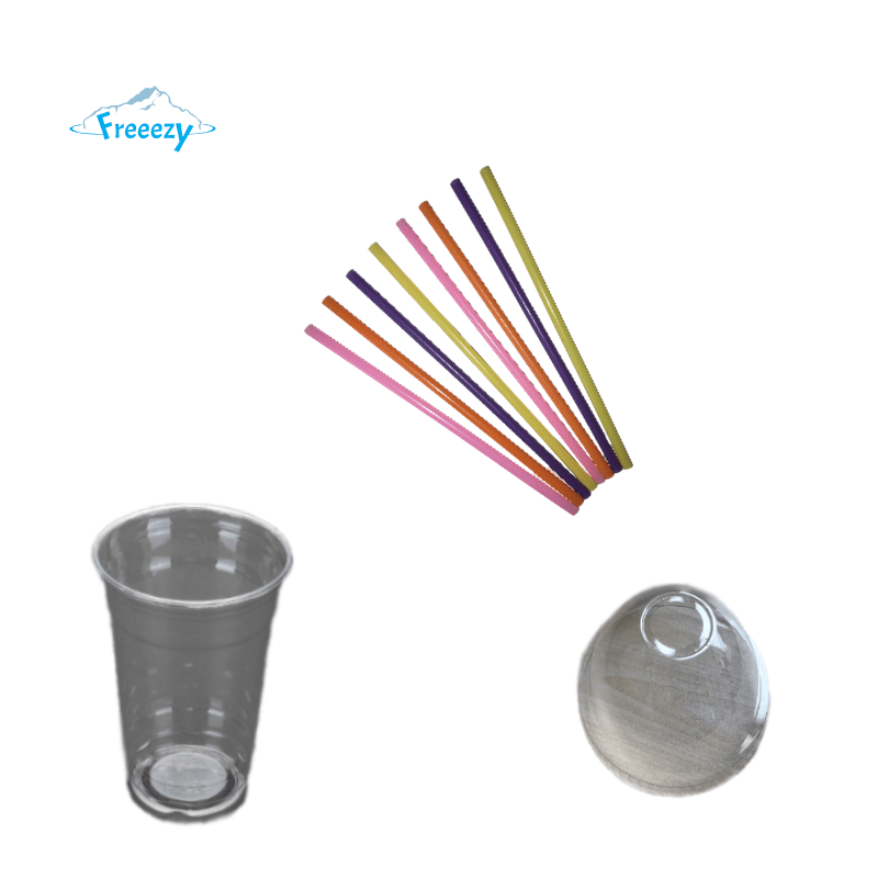 Plastik Becher/Strohhalm