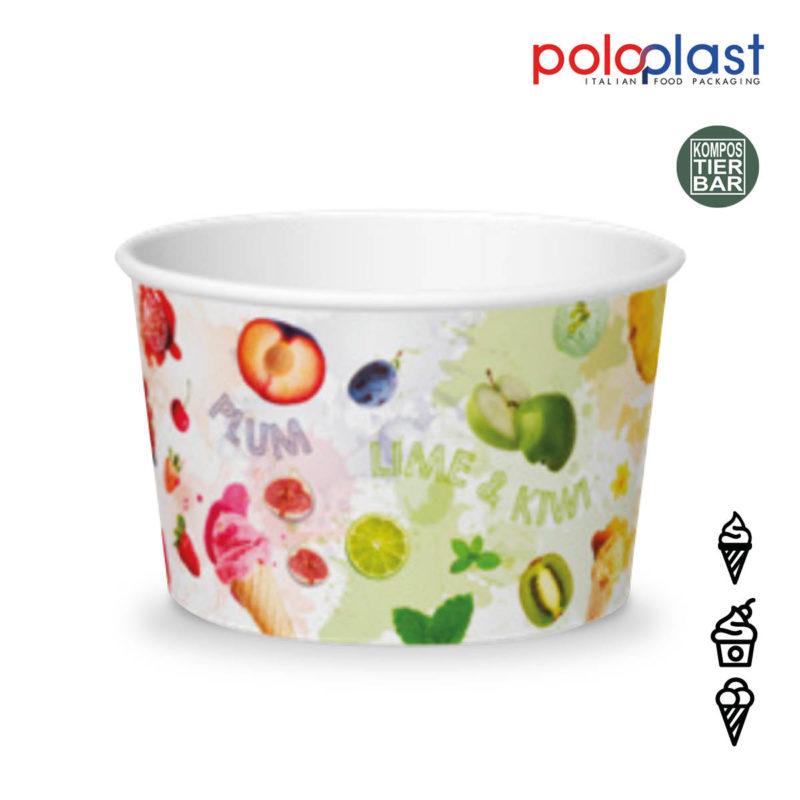 poloplast Papier Eisbecher fruits