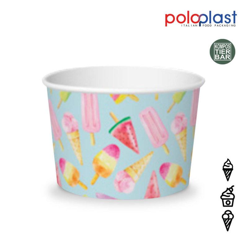 poloplast Papier Eisbecher madelene