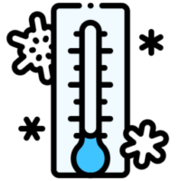Thermometer-cooling