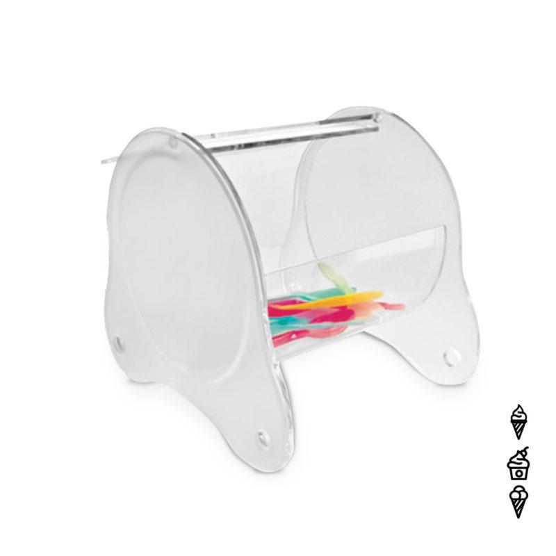 Löffelhalterbox ROTONDO transparent