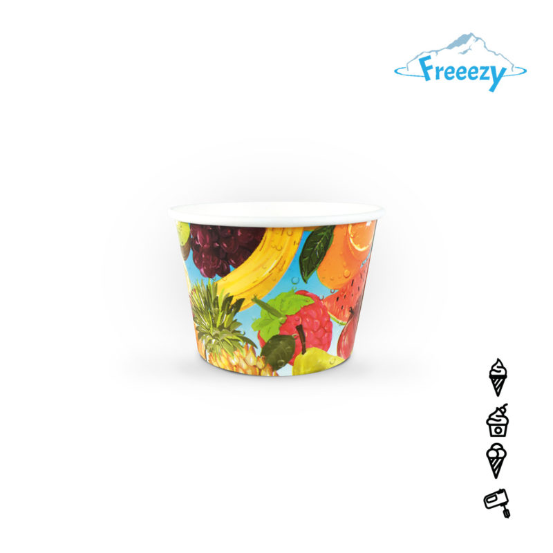"""Eisbecher Freeezy """"Früchte"""" bedruckt"""